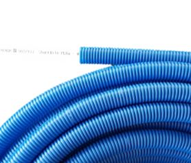 tuberia corrugado azul